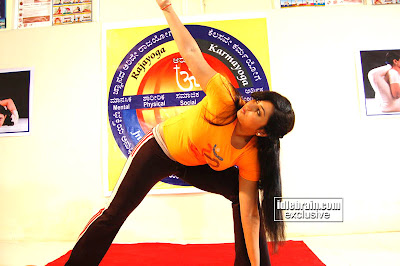South Super HOT NAMITHA Photos From latest movie with HOT YOGA POSES