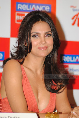 Actress Lara Dutta hot Photos  Bollywood Hot Beauty Lara Dutta ultimate hot figure display at her Yoga DVD launch wallpapers
