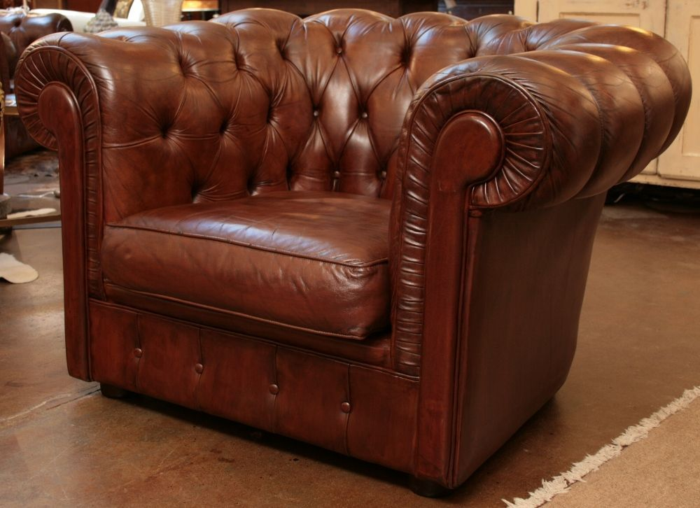 Attractive English Chesterfield Club Chair, C. 1930.