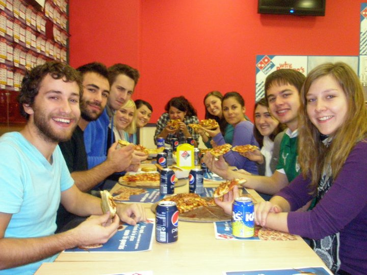 Tyler's birthday at Domino's