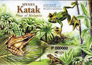Frogs Of Malaysia Miniature Sheet Stamp