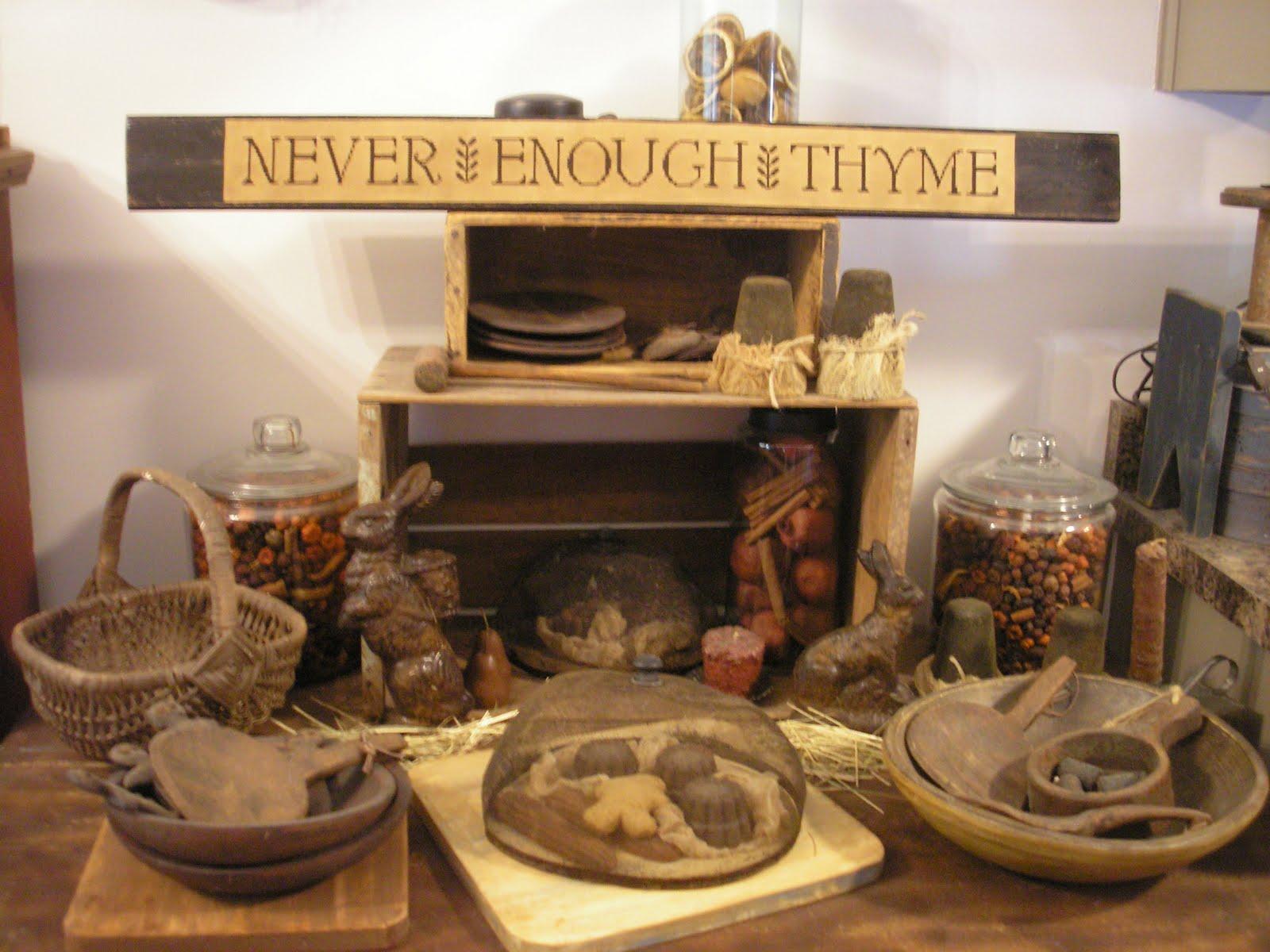Taylors Farmhouse Attic Never Enough Thyme Sign