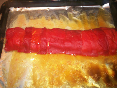 Kırmızı biberli tavuk sarması tarifi