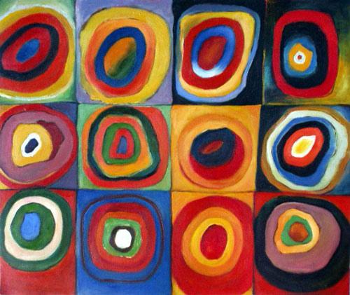 art blog kandinsky farbstudie quadrate color study of squares 1913. Black Bedroom Furniture Sets. Home Design Ideas