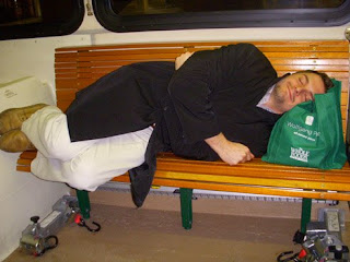McNulty Naps on Trolly