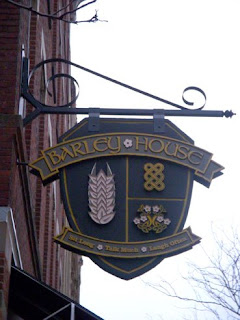The Crest outside of Barley House restaurant in Cleveland