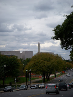 Constitution Avenue with a view of Washington Monument