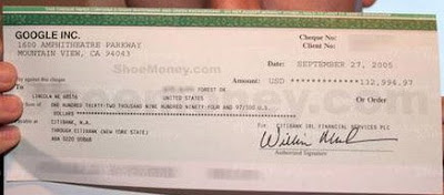 adsense cheque