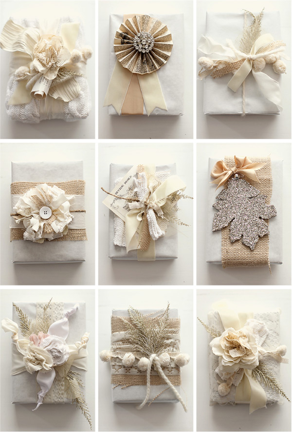 who knew butcher paper & fabric scraps could be so beautiful?