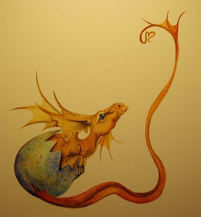 Gallery For gt Small Dragon Drawing
