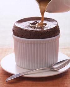 dessert recipes: Bittersweet Chocolate Souffles