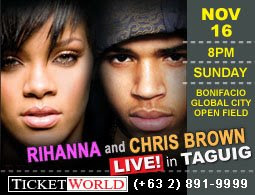 how to get tickets to watch rihanna and chris brown concert in manila
