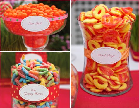 This particular candy station was designed by Joyful Weddings and Events