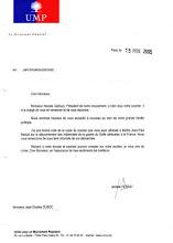 Réponse du Président de l'UMP