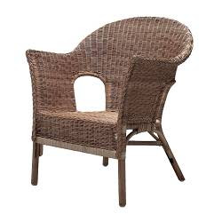 A rather supportive wicker chair