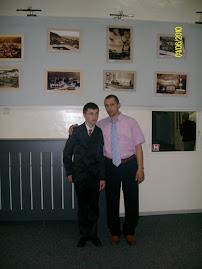 Împreună cu elevul Leon Bordea, clasa a IX-a B, la Muzeul de Istorie şi Arheologie...