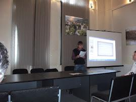 Aspect din timpul comunicării lui Bogdan Munteanu, Muzeul de Istorie şi Arheologie, 24.I.2011
