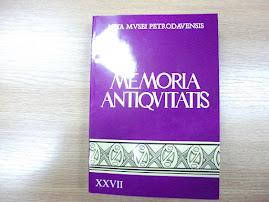 """Coperta 1 a revistei """"Memoria Antiquitatis"""", nr. XXVII"""