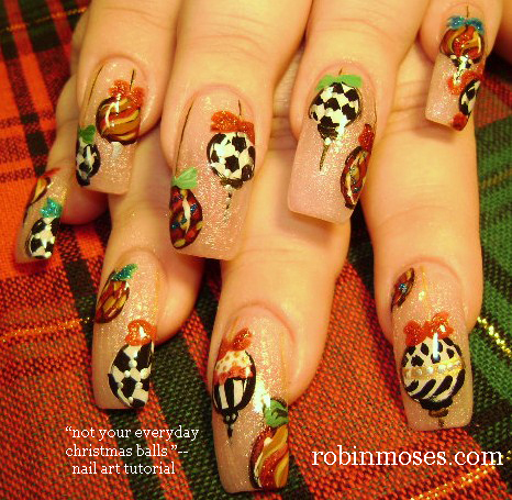 Robin moses nail art christmas nails cute christmas nails christmas nail art easy candy canes prinsesfo Choice Image