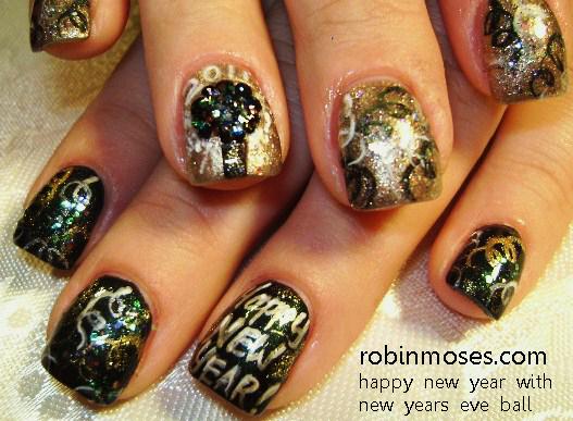 New Year 2012 New Year Nail Art New Years Nail Art New Year