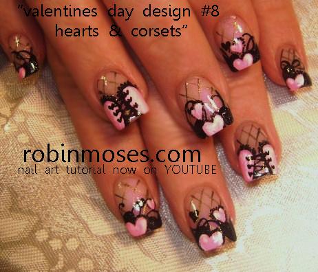 J02yzes Valentine Nail Designs