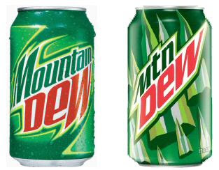 Mountain Dew - the carbonated beverage
