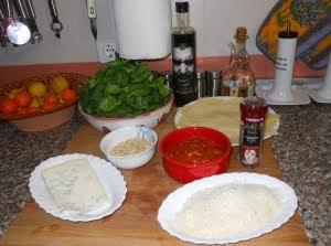 Ingredientes para los canelones.