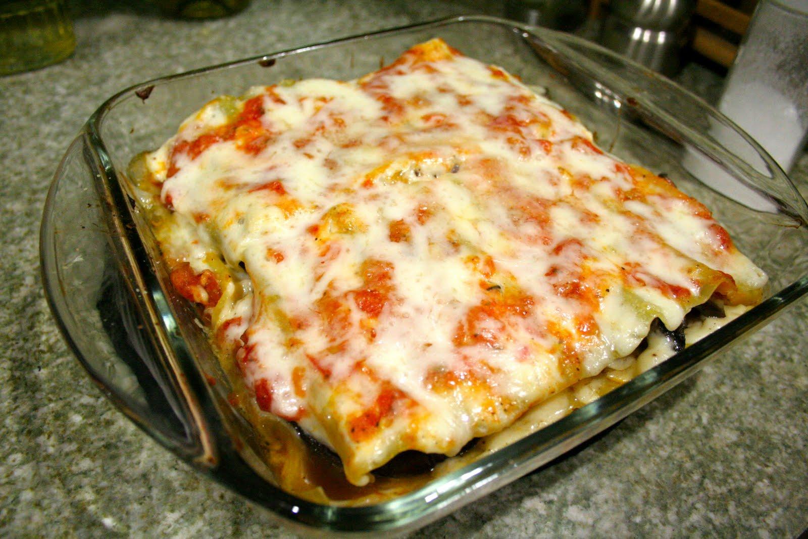 Omnivorous: Eggplant and Mushroom Lasagna
