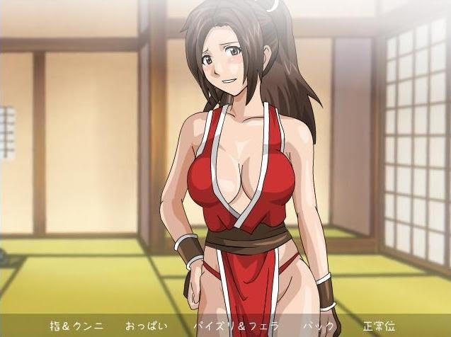 Flash adult hentai game about Mai Shiranui from the Fatal Fury and The King ...
