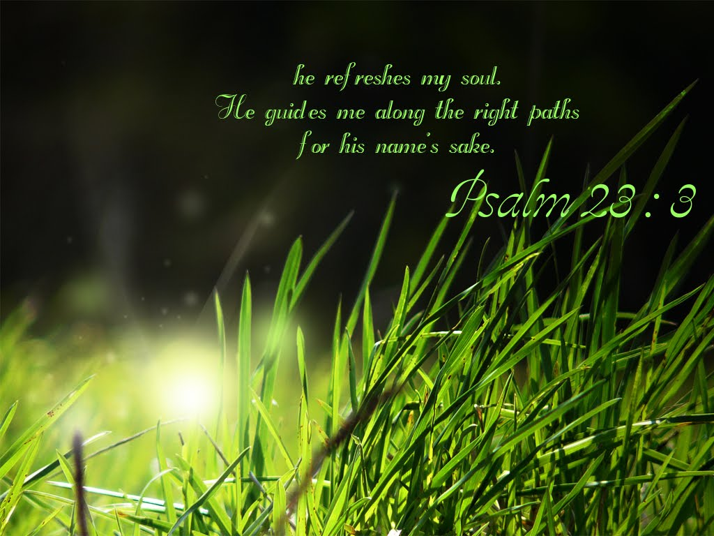 Christian Wallpapers Psalm 23 3