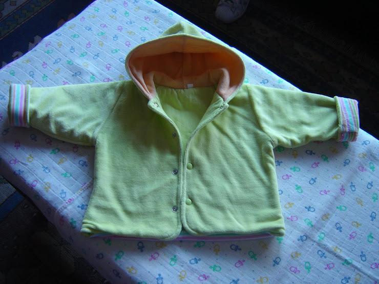 casaco verde, 5eur, 3/6meses