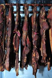 烘乾燻香鹹豬肉