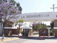 La entrada al Parque la Democracia De la zona siete capitalina en la Ciudad de Guatemala