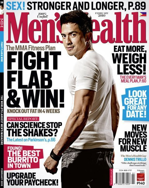 Dennis Trillo on the cover of Men's Health Feb 2010 Issue
