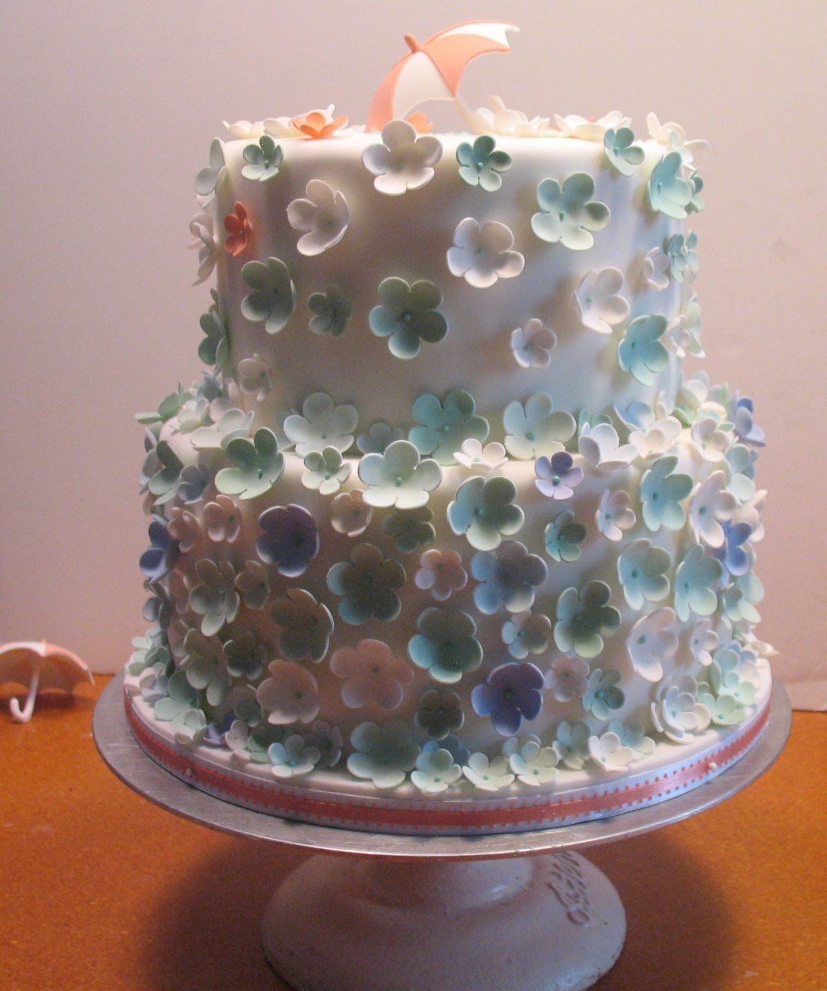 Cake Decorations For Bridal Shower : Baked Ideas: A simple bridal shower cake, colors to match ...