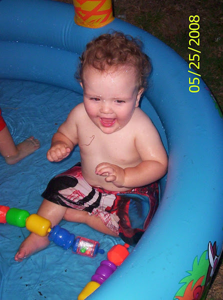 First time in a kiddie pool!
