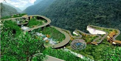 Jembatan dengan Struktur Berkelok Pertama di Indonesia|bambang-gene.blogspot.com