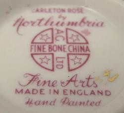northumbria carleton rose fine china