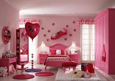 Beautiful Pink Girls Room Design Ideas
