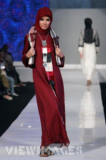 A model showcases Moslem Fashion Designs