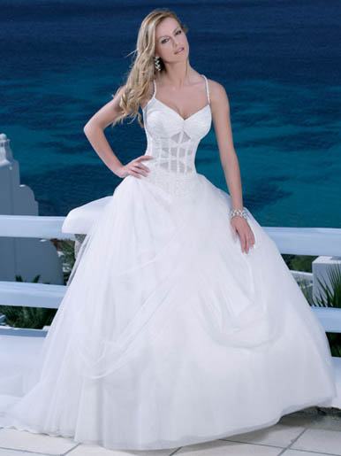 strapless beach wedding dresses