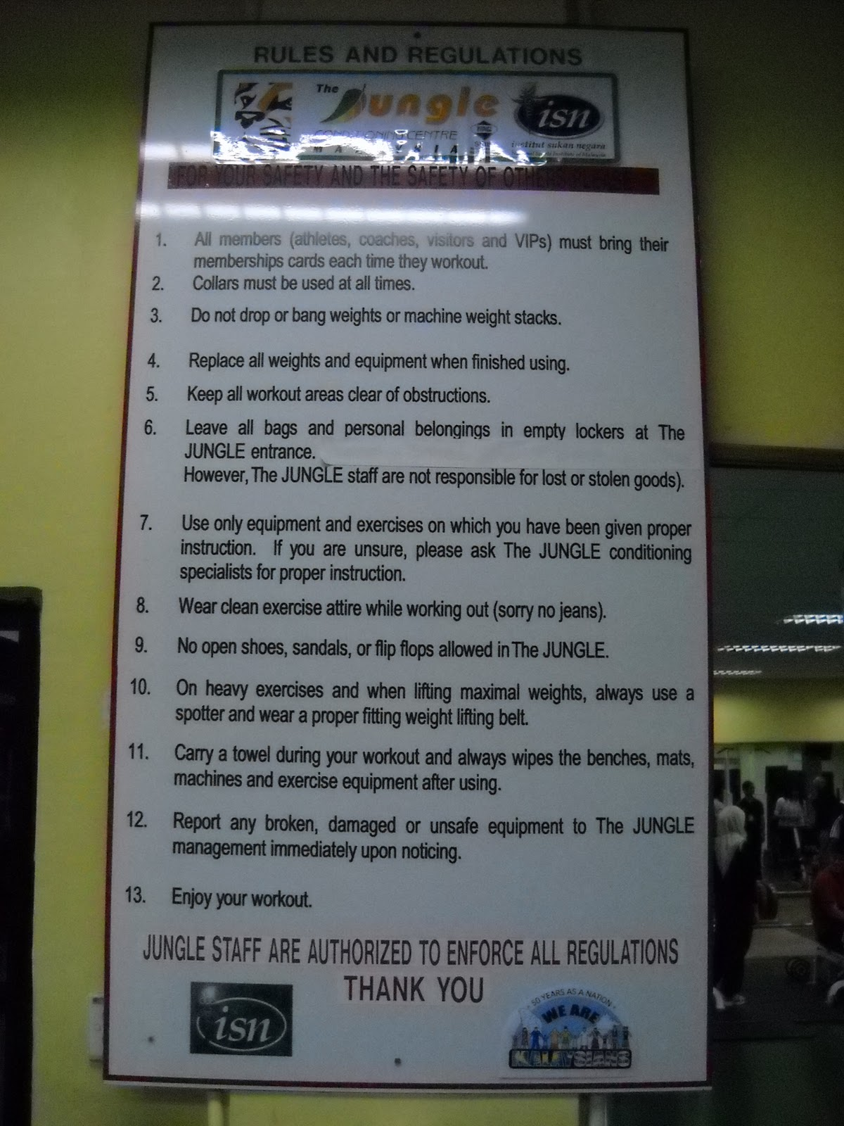 gym rules and regulations pdf