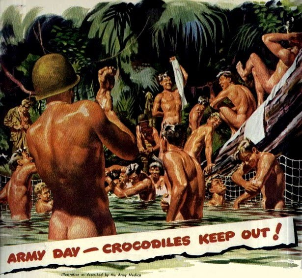 ... gay troops, specifically with regards to creating separate showers ...