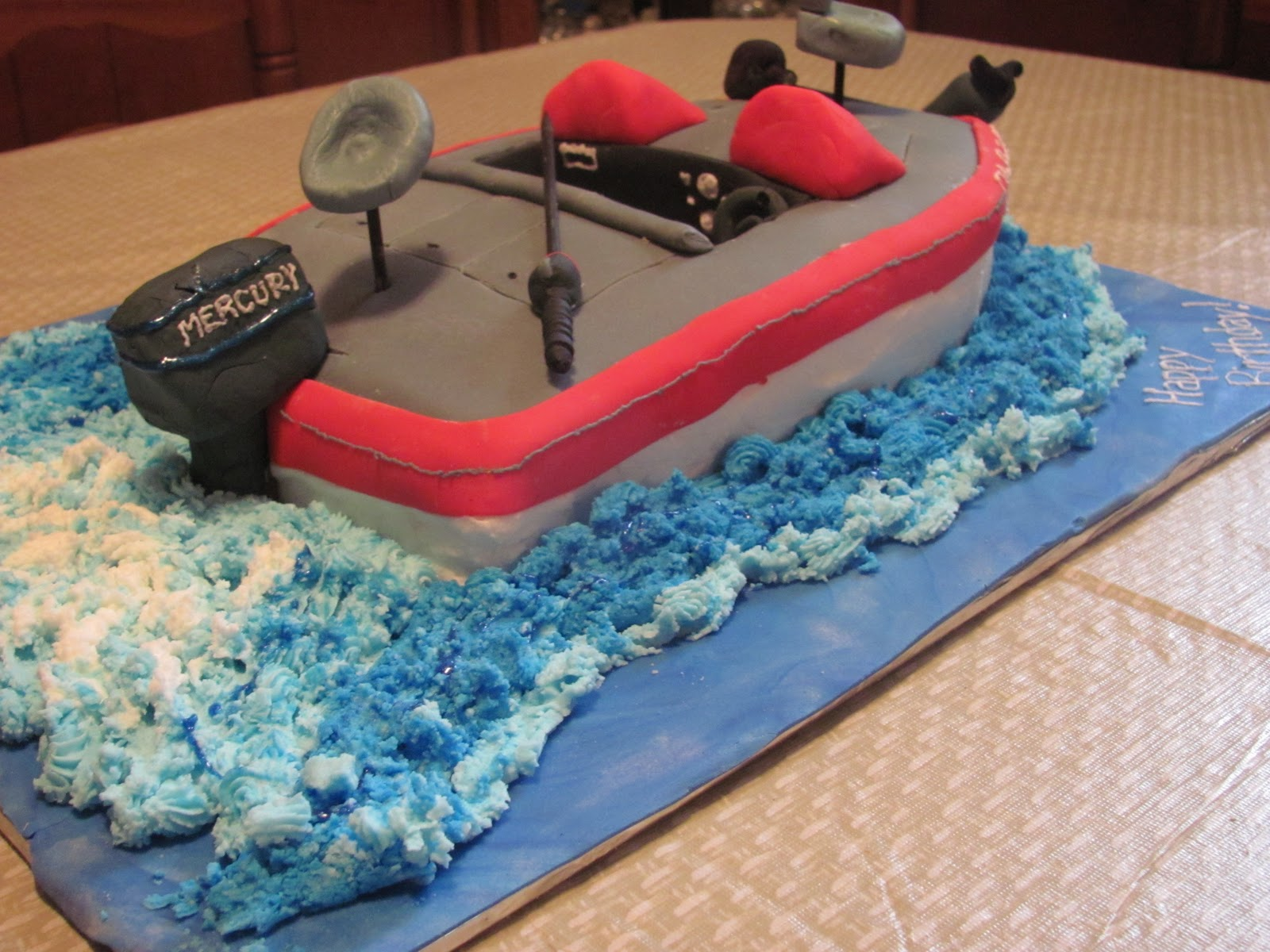Inspired By Grace: Boat Birthday Cake