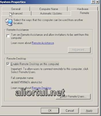 Terminal server remote