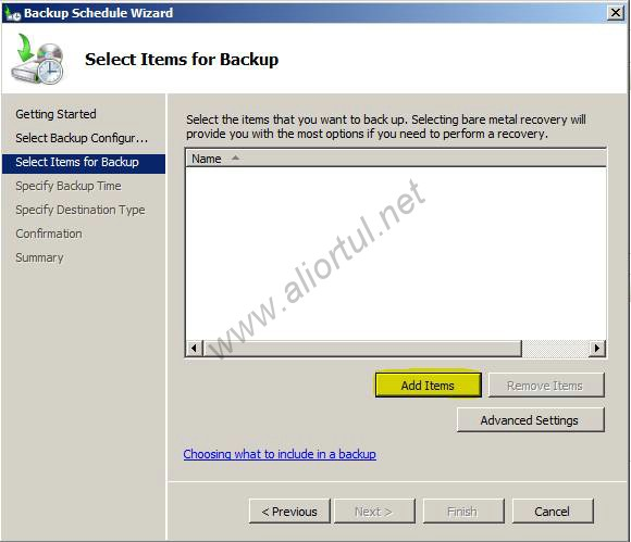 how to take backup in windows server 2008