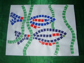 juego arte y aprendizaje arte mosaico con papel para niÑos en