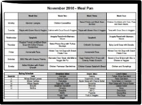 Download a Meal Plan Spreadsheet
