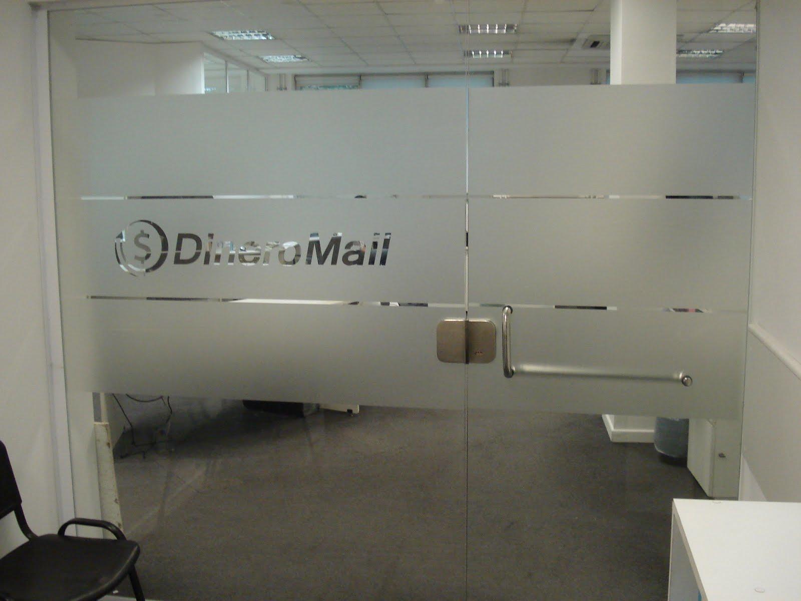 ... de Vidrios para oficinas: Esmerilado en oficinas de DineroMail