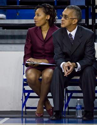 Photo: Hampton University Head Women Basketball Coach Walter Mebane (North
